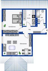 2-Zimmer Dachgeschoss-Wohnung