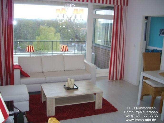 37 Jahre OTTO-Immob.: Luxuriös voll möblierte Single-Wohnung. Mit Süd-Loggia und Traum-Ausblick. Hund erlaubt. Frei ab 01.12.18