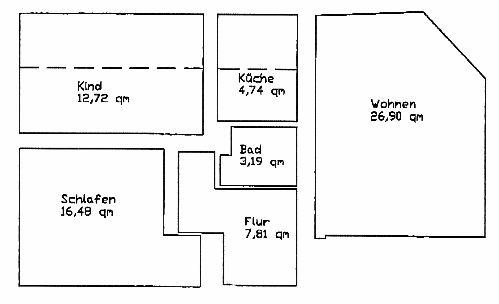 + + + 3 Zimmer, komplett saniert + + +