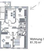 Prima Kapitalanlage: 3 Zimmer-  ETW, mit Küche und Stellpl., mit BadeWanne