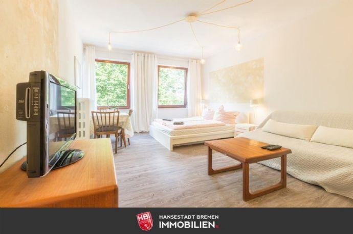Innenstadt / Kapitalanlage: Möbliertes Apartment mit Blick ins Grüne