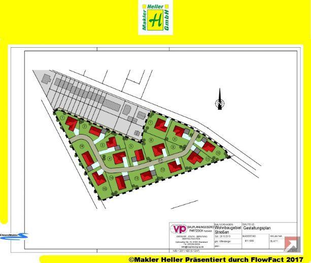 Erschlossene Baugrundstücke im Bebauungsgebiet Priestewitz-Strießen