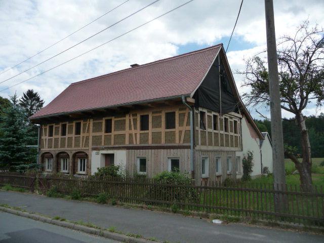 Umgebindehaus am Fuße des Zittauer Gebirges