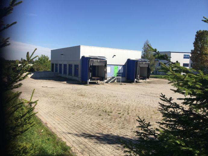 Nossen/Siebenlehn Gewerbegebiet, unmittelbare Lage am Autobahn Dreieck Nossen A4/A14, Gewerbegrundstück mit 400m² Lager- Hallenfläche zu vermieten