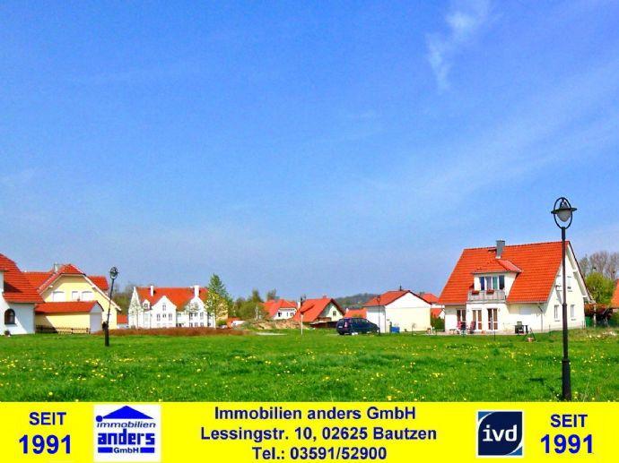 voll erschlossene Baugrundstücke (Gs-größe zw. 237 m² bis 633 m² frei wählbar) in ruhiger Wohnlage östlich von Bautzen