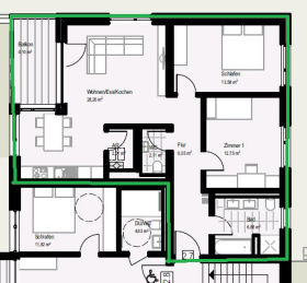 Wohnung in Offenburg  - Fessenbach