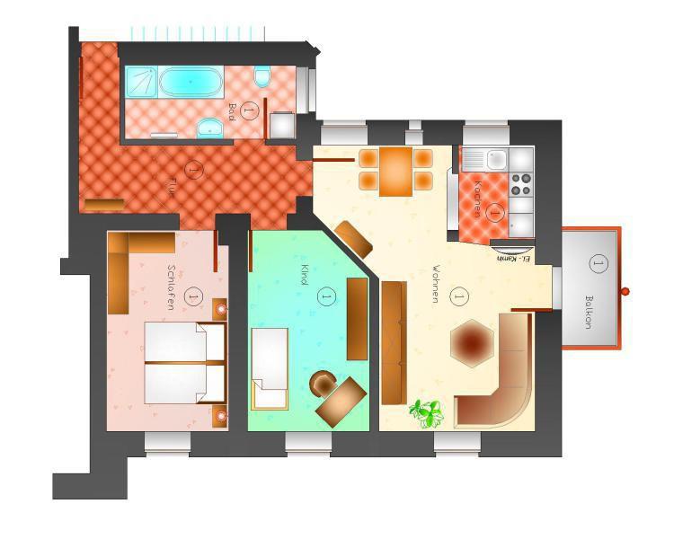 Top 3-Raum App. Solarheizung, Aufzug u. Balkon