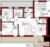 3 Zi. Neubau Wohnung mit Dachloggia