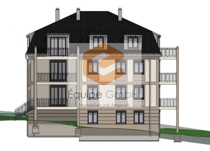 ~ Exklusive und sonnige Wohnung auf der kompletten Etage mit 2 Balkonen und Blick ins Grün ~