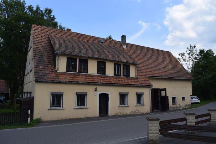 Großes Einfamilienhaus mit 2 Wohnungen Lager und Garage