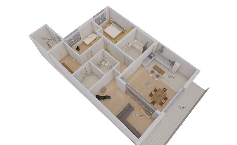Wahlweise 3 oder 4-Zimmer, Neubau-Wohnung, hell, ruhig, sehr zentral in Deutz, provisionsfrei