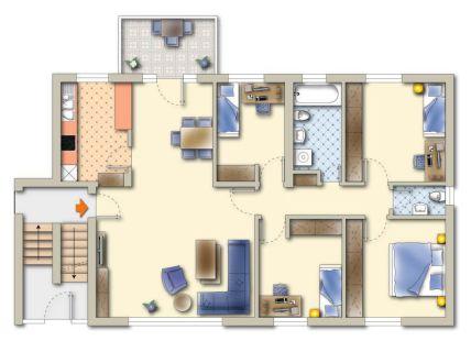 5-Zimmer WHG mit BALKON
