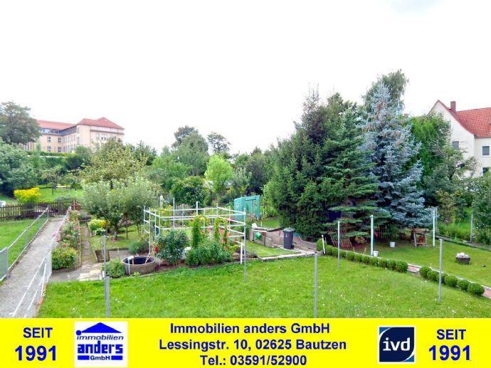 - Leerstehend - Moderne 2-Raum-ETW mit separaten Wiesen- und Gartengrundstücksanteil - in sehr ruhiger Wohnlage in Bautzen
