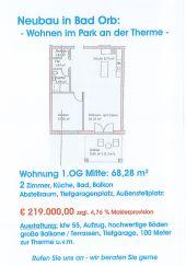 Bad Orb: Neubau - Wohnen im Park an der Therme: Wohnung 1.OG inkl. Tiefgaragen...