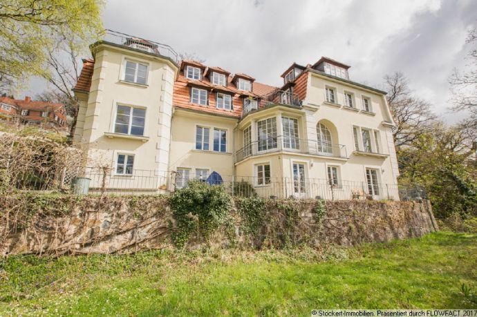 Großzügige 3-Zimmer-Wohnung mit Terrasse und Blick über die Elbe in Dresden-Wachwitz