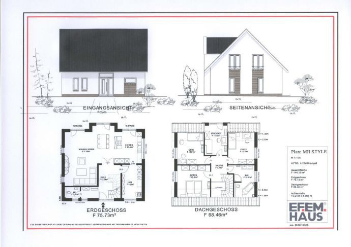 Perfect 32479 Hille: Modernes Haus Mit Zwerchgiebel