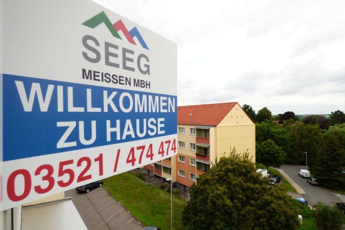 Fast wie auf dem Lande - 2-R.-Wohnung mit Südbalkon zum Wohlfühlen am Rande von Meißen