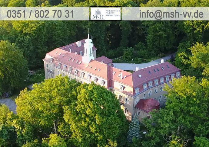 Wohnen im Schloß Wachwitz-sonnige 4-Zimmer-Maisonette-Wohnung mit separater Gartenterrasse + Blick