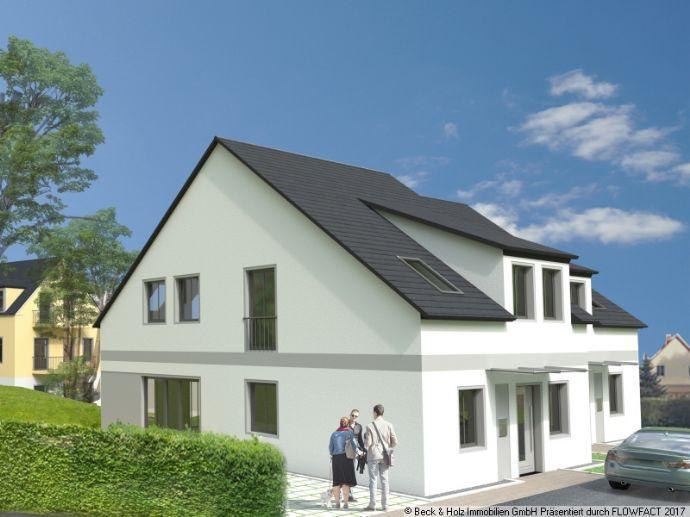 Neu errichtete Doppelhaushälfte in sonniger Lage von Friedewald bei Moritzburg