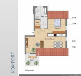 Dachgeschosswohnung in Bielefeld  - Ummeln