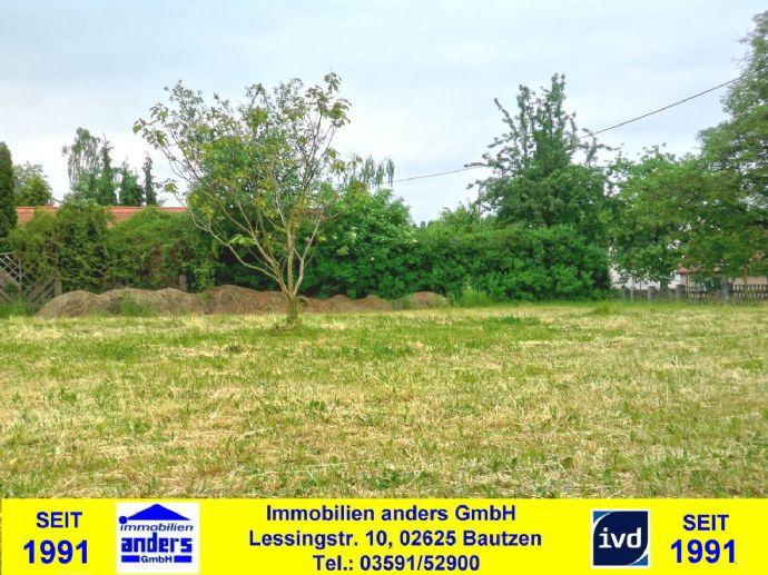 Baugrundstück mit guter Infrastruktur - ca. 7 km nördlich von Bautzen