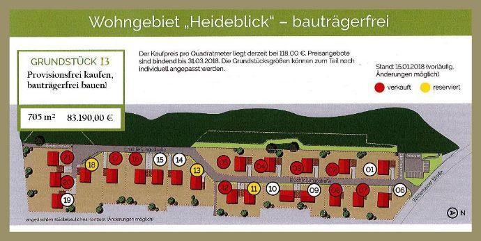 """Bauen im Wohngebiet """"Heideblick"""" - Provisionsfrei!"""