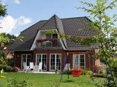 Ein prächtiges Einfamilienhaus mit kraftvollen und deutlichen Strukturen....