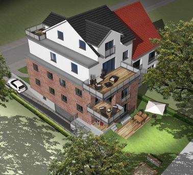 neubau einer exklusiven dachterrassen eigentumswohnung mit. Black Bedroom Furniture Sets. Home Design Ideas