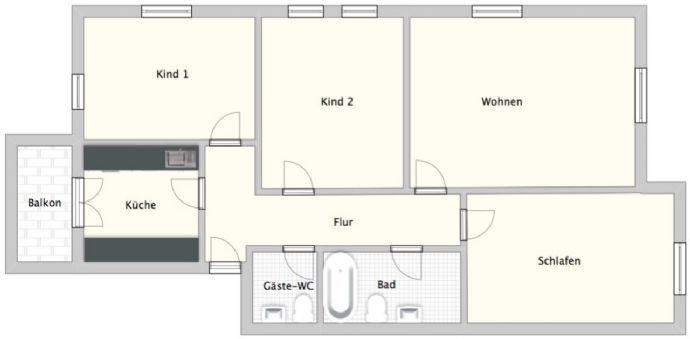 4-Zimmer im Dachgeschoss mit Balkon und Stellplatz!