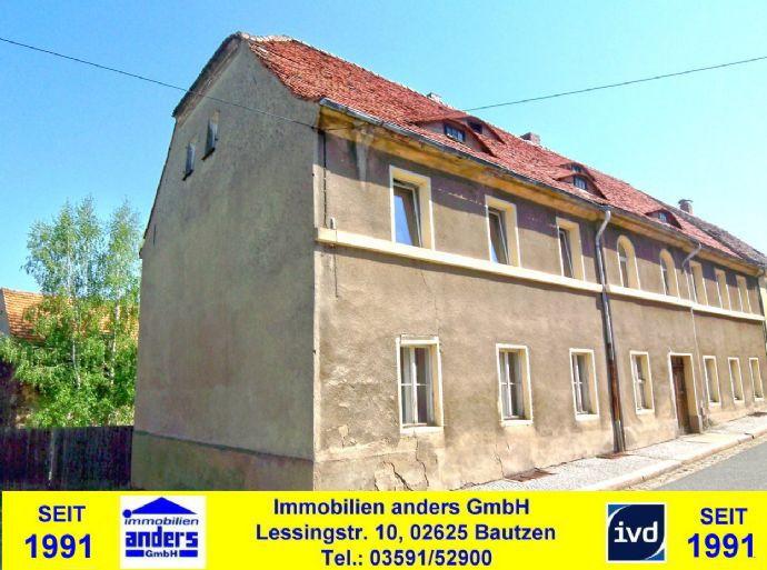 sanierungsbedürftiges, denkmalgeschütztes Mehrfamilienhaus mit Nebengebäuden - in ruhiger Wohnlage - ca. 15 km östlich von Bautzen