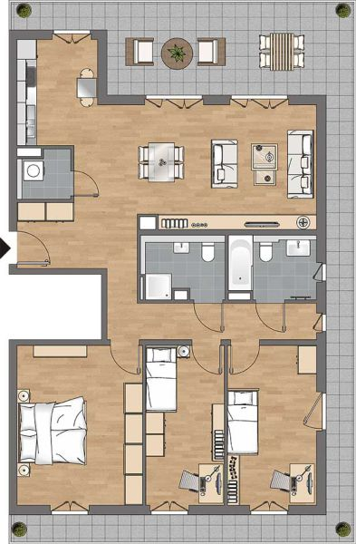Einzigartig mit traumhafter Dachterrasse - 4ZI-Penthouse auf 119 qm