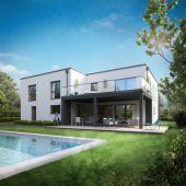 Bauen Sie Ihr Traumhaus mit Blick über Wiesen und Felder